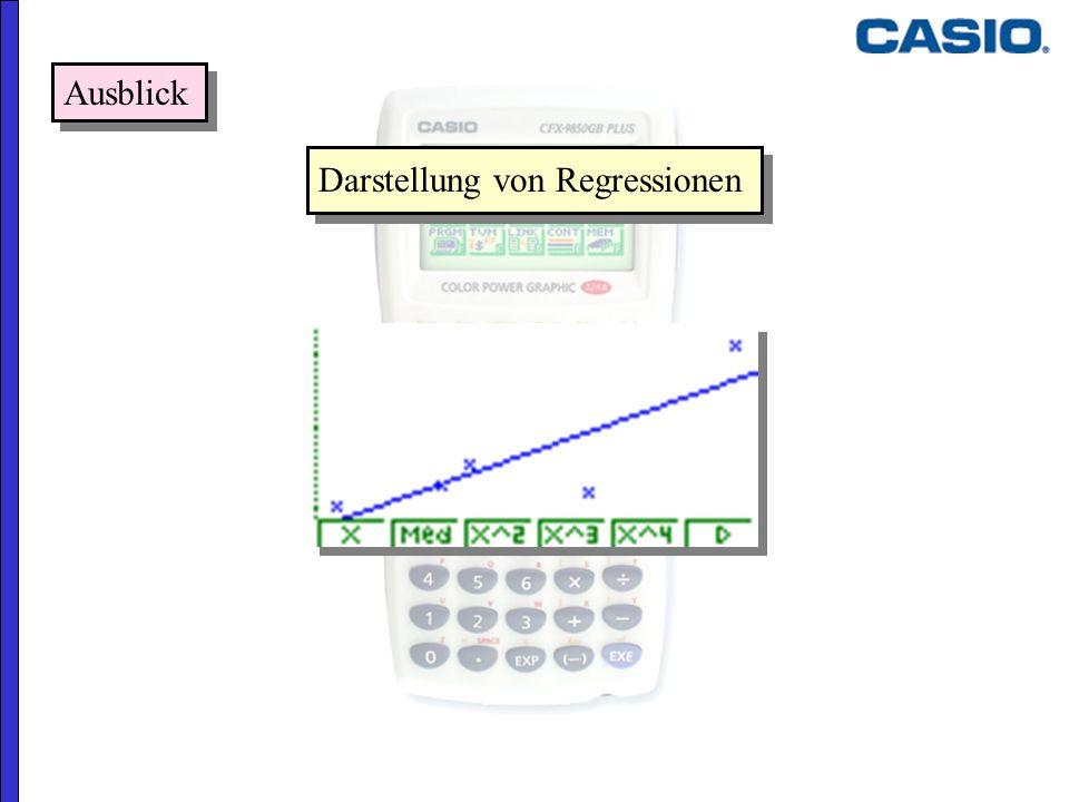 Ausblick Darstellung von Regressionen