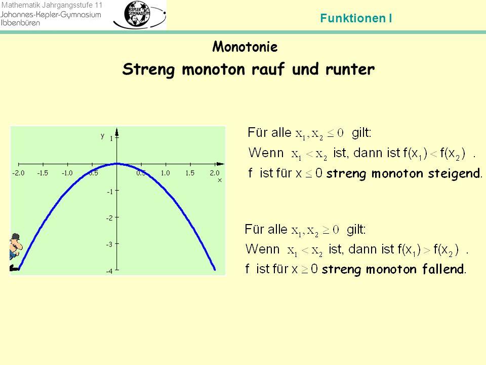 Funktionen I Mathematik Jahrgangsstufe 11 Die drei Fragen Was versteht ein Mathematiker unter dem Begriff Funktion.