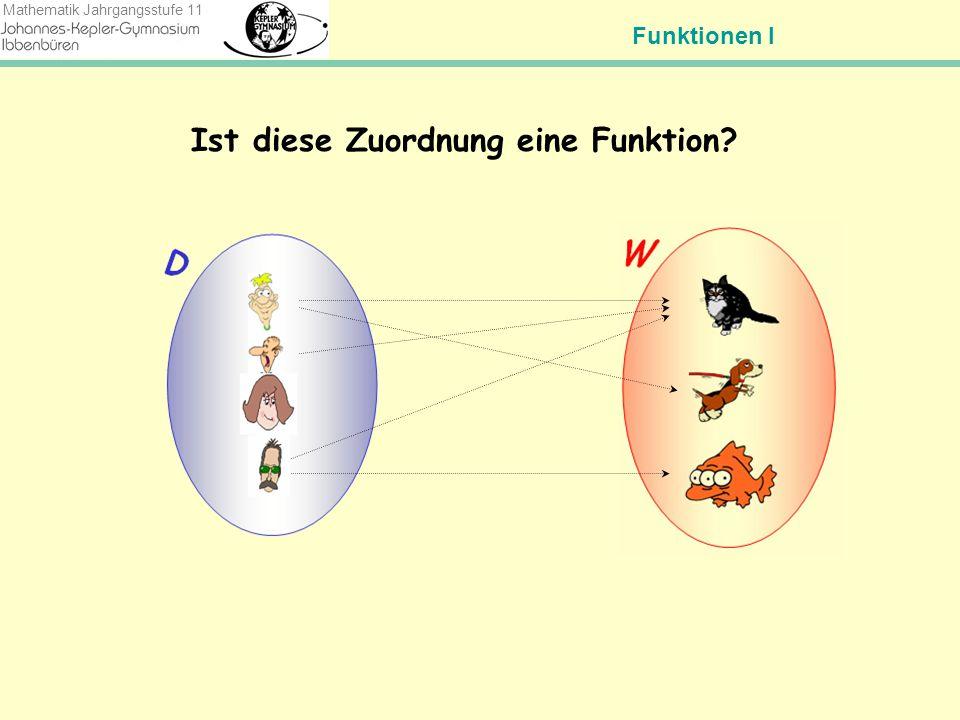 Funktionen I Mathematik Jahrgangsstufe 11 Wie funktioniert eine Funktion.