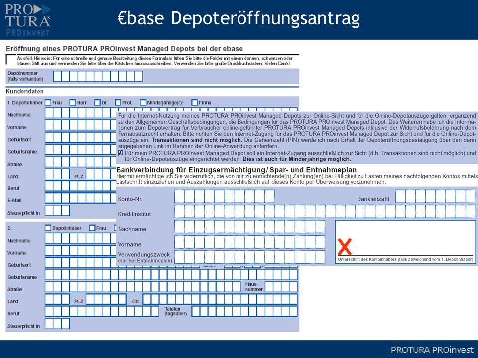 base Depoteröffnungsantrag