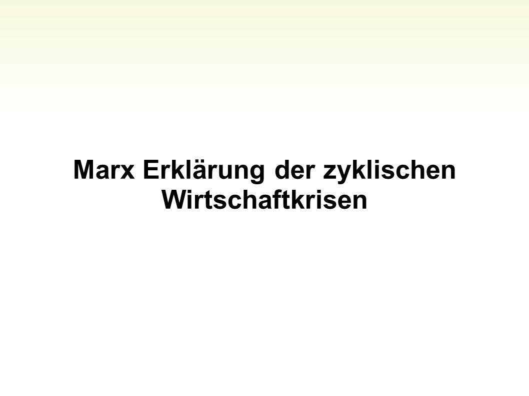 Marx Erklärung der zyklischen Wirtschaftkrisen 64