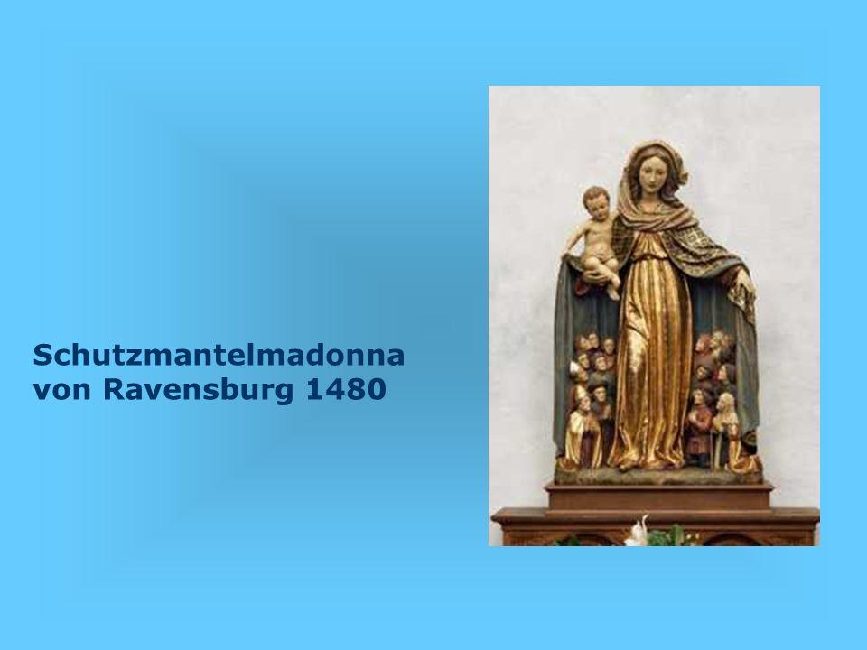 Vor dem Altarraum im Augsburger Dom befinden sich jeweils rechts und links an zwei Säulen insgesamt vier Original- Bildtafeln, die Hans Holbein d.Ä im Jahre 1493 geschaffen hat.