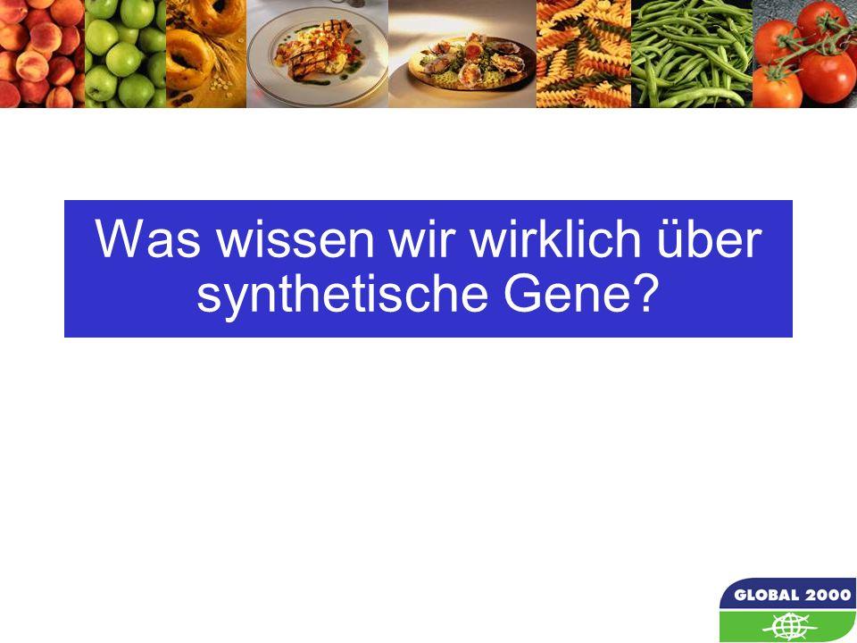 35 Was wissen wir wirklich über synthetische Gene?