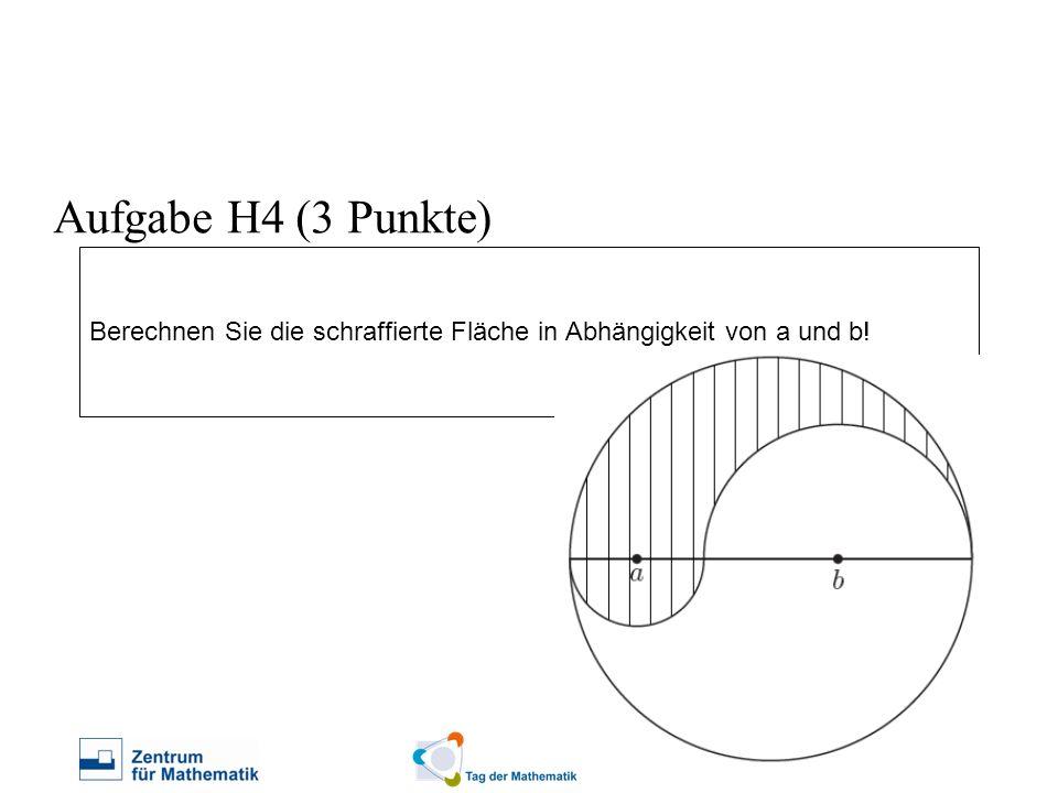 Berechnen Sie die schraffierte Fläche in Abhängigkeit von a und b! Aufgabe H4 (3 Punkte)
