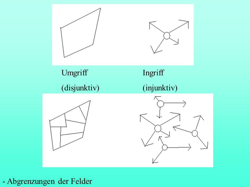 3.4 Kollokationsfeld, syntaktisches Feld oder Bedeutungsfeld Bevorzugter sprachlicher Kontext eines Wortes, seine semantische Kongruenz: Welche Wörter können miteinander verbunden werden und welche nicht.