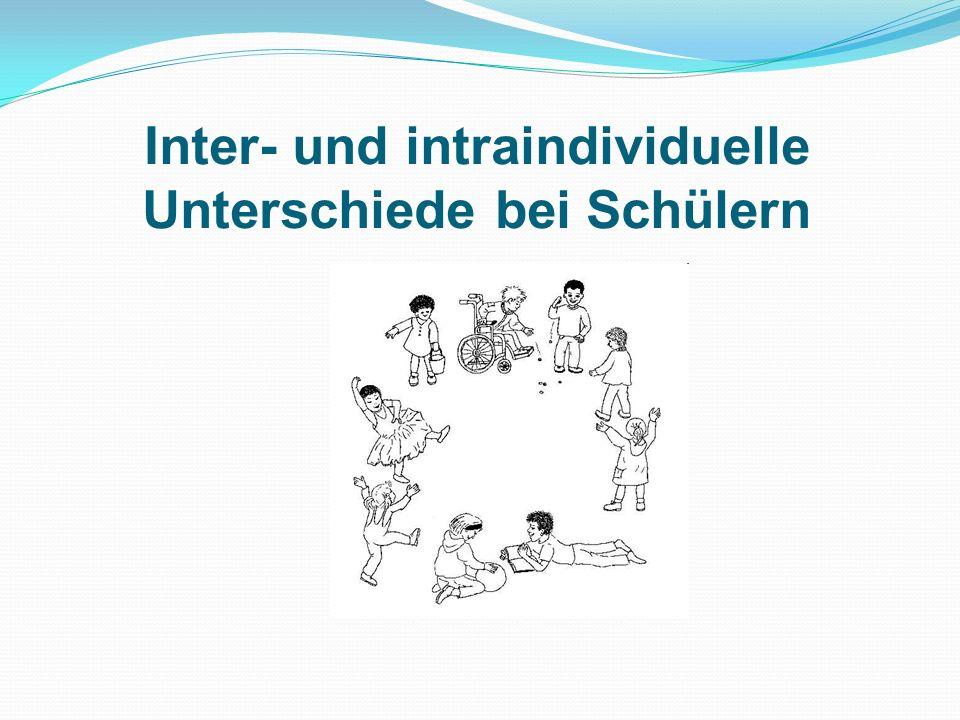 Inter- und intraindividuelle Unterschiede bei Schülern