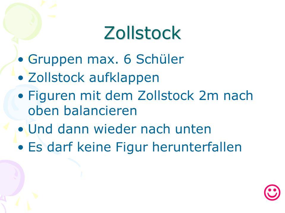 Zollstock Gruppen max.