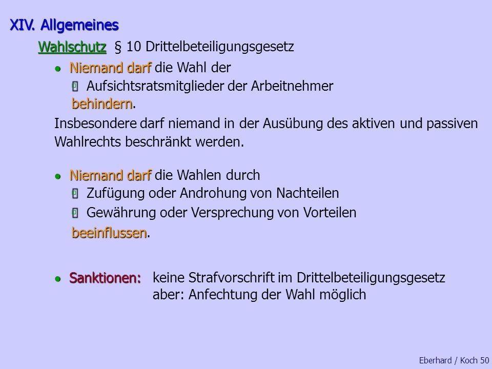 Fristen oder Nachfristen wurden nicht eingehalten Eberhard / Koch 48 ungültige oder nicht fristgerecht eingereichte Anträge bzw. Wahlvorschläge wurden