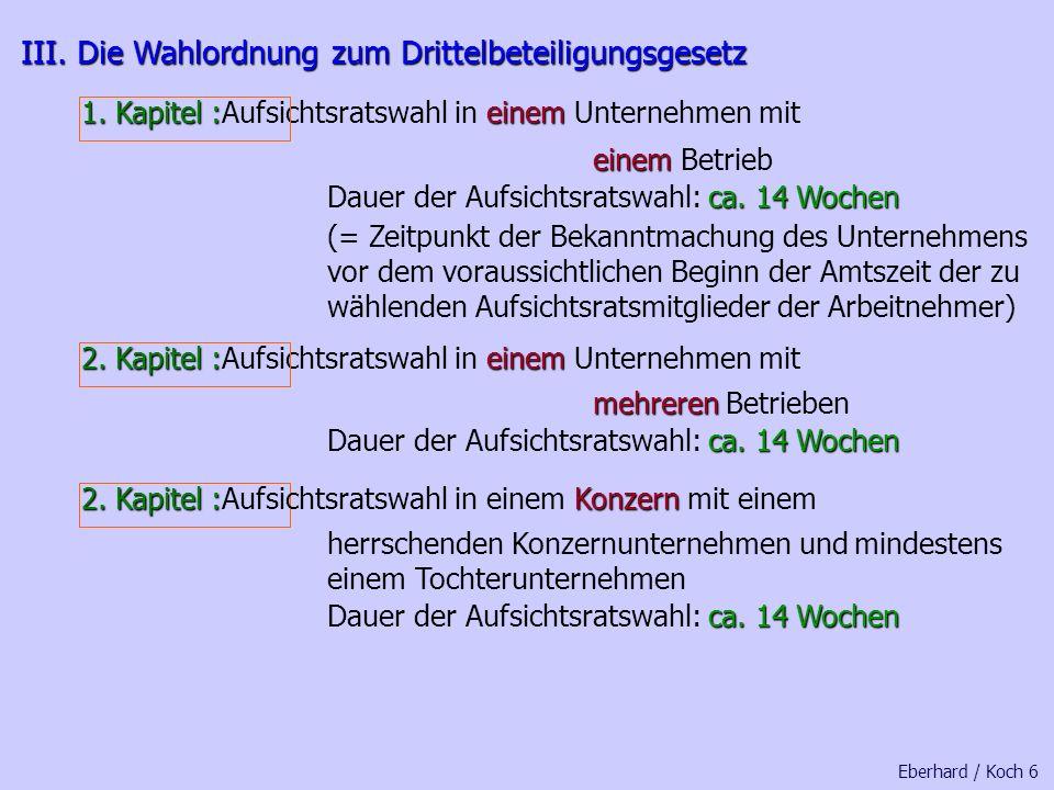 Eberhard / Koch 5 II. Interne und externe Arbeitnehmervertreter II. Interne und externe Arbeitnehmervertreter abschließendzwingend § 4 Abs. 2 Drittelb
