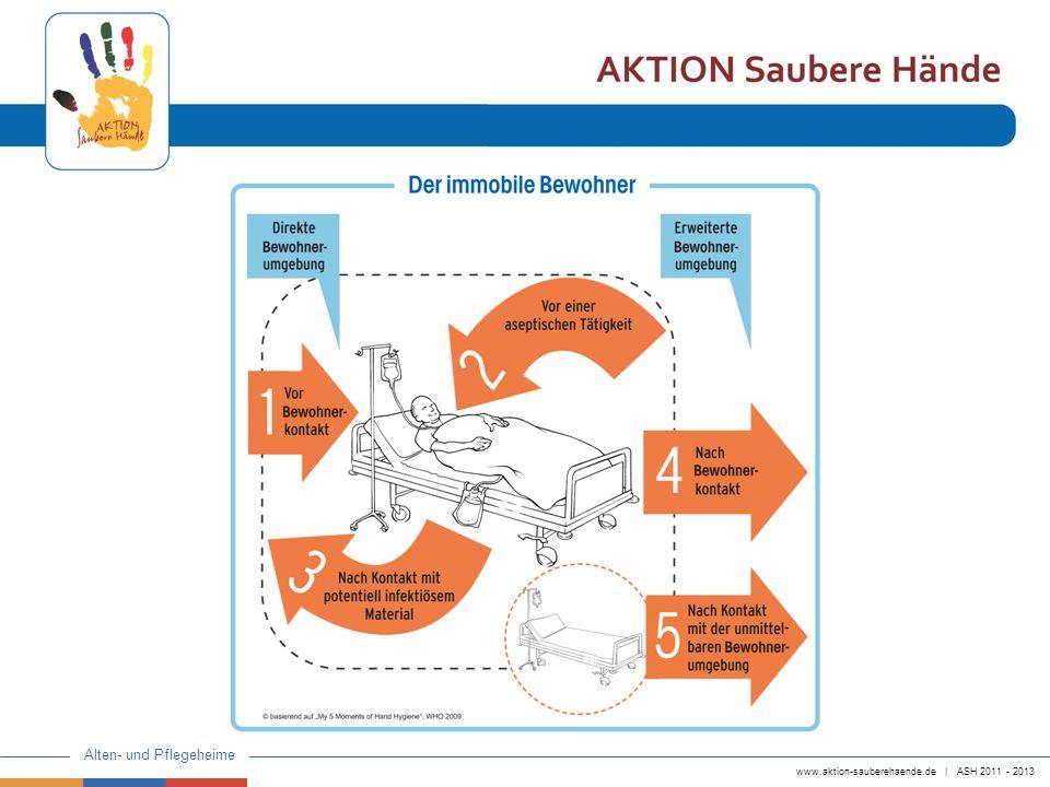 www.aktion-sauberehaende.de | ASH 2011 - 2013 Alten- und Pflegeheime Zur Folie: 1.