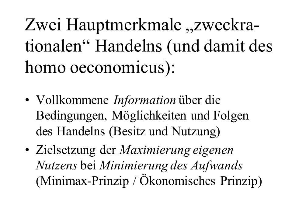 Frage: Fördert die gesellschaftliche Entwicklung in Deutschland die Ausbreitung des homo oecono- micus?