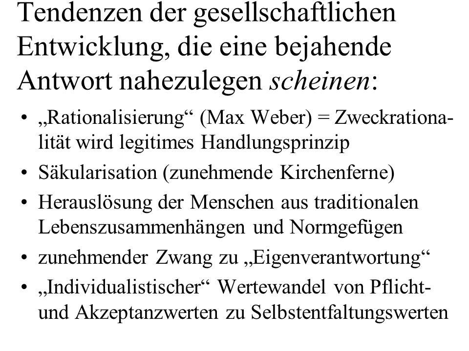 Angesichts dieser Tendenzen zu fragen: Homo Oeconomicus heute in Deutschland der dominante Verhaltenstypus.