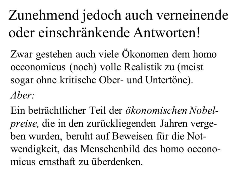 Interpretation: Vorherrschende Ausprägung des zunehmenden Individualismus in der Bevölkerung Deutschlands: Kooperativer Individualismus (nicht also egoisti- scher, auf Eigennutz des Einzelnen im Sinne des homo oeconomicus aufbauender Individualismus)!