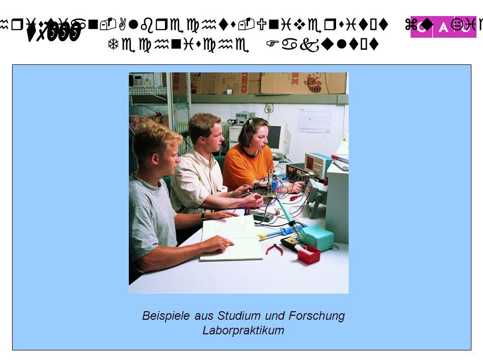 Christian-Albrechts-Universität zu Kiel Technische Fakultät 16 Beispiele aus Studium und Forschung Laborpraktikum