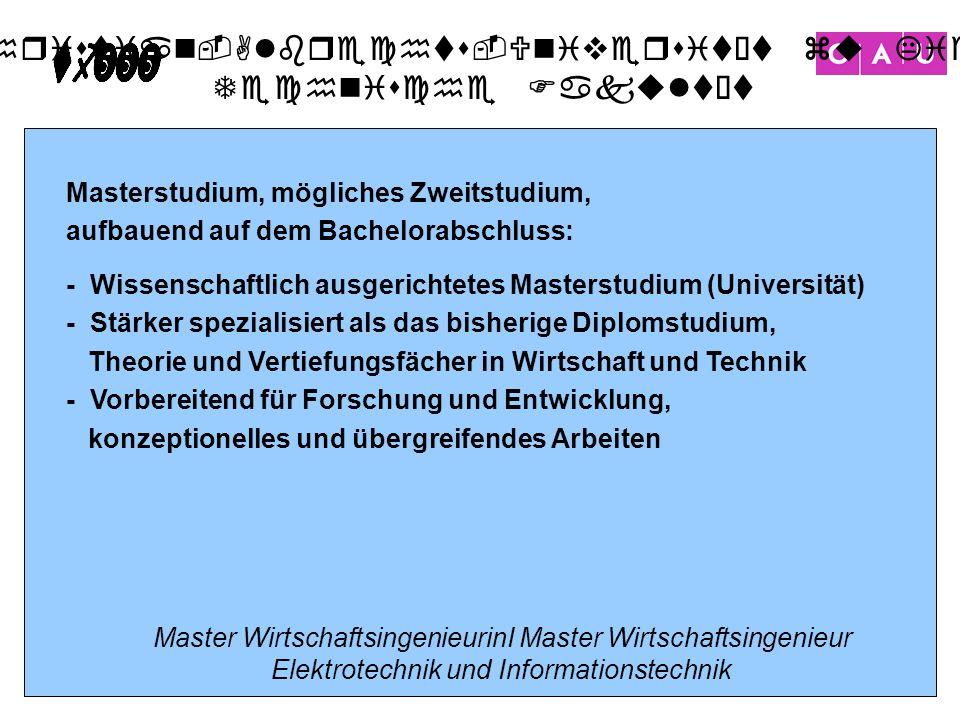 Christian-Albrechts-Universität zu Kiel Technische Fakultät 18 Masterstudium, mögliches Zweitstudium, aufbauend auf dem Bachelorabschluss: - Wissensch
