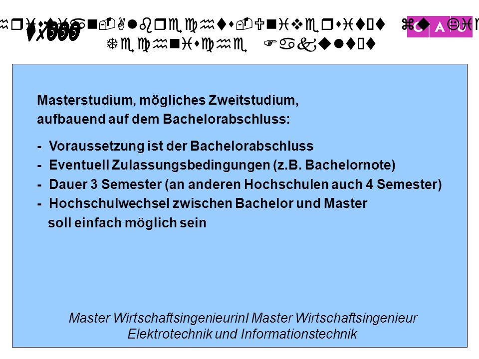 Christian-Albrechts-Universität zu Kiel Technische Fakultät 19 Masterstudium, mögliches Zweitstudium, aufbauend auf dem Bachelorabschluss: - Vorausset