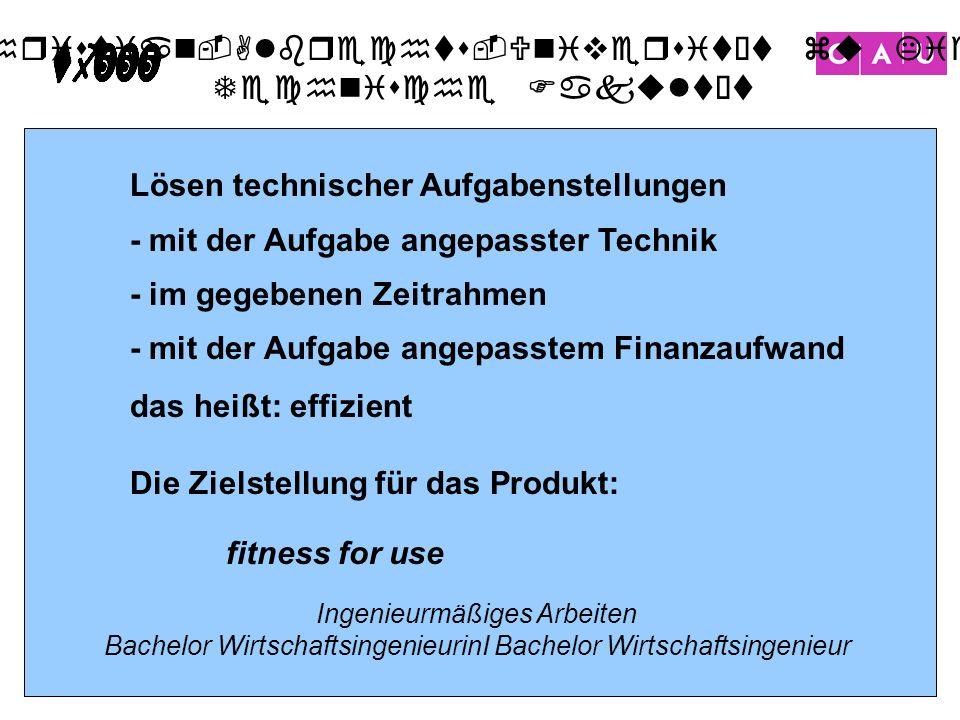 Christian-Albrechts-Universität zu Kiel Technische Fakultät 21 Lösen technischer Aufgabenstellungen - mit der Aufgabe angepasster Technik - im gegeben
