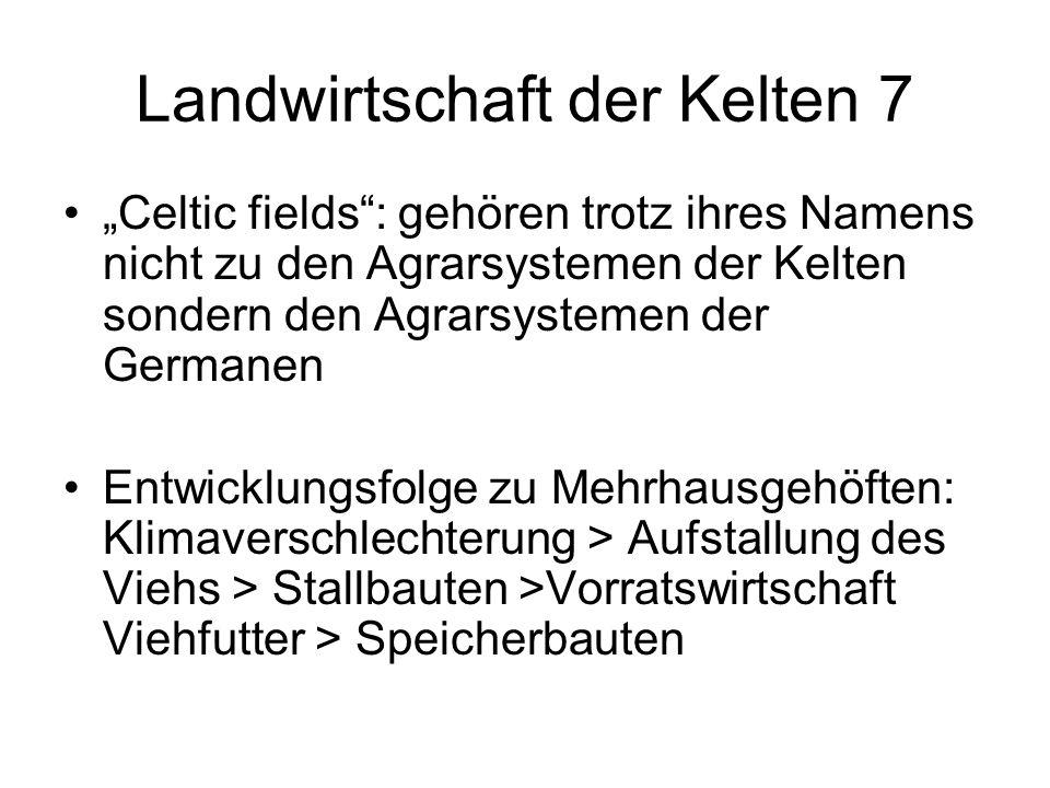 Landwirtschaft der Kelten 7 Celtic fields: gehören trotz ihres Namens nicht zu den Agrarsystemen der Kelten sondern den Agrarsystemen der Germanen Ent
