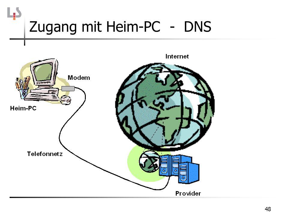 48 Zugang mit Heim-PC - DNS