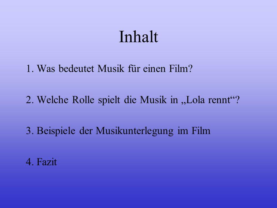 Filmmusik (Lola rennt) Ein Referat von Christoph Heuchemer, Martin Lerchl und David Beisel