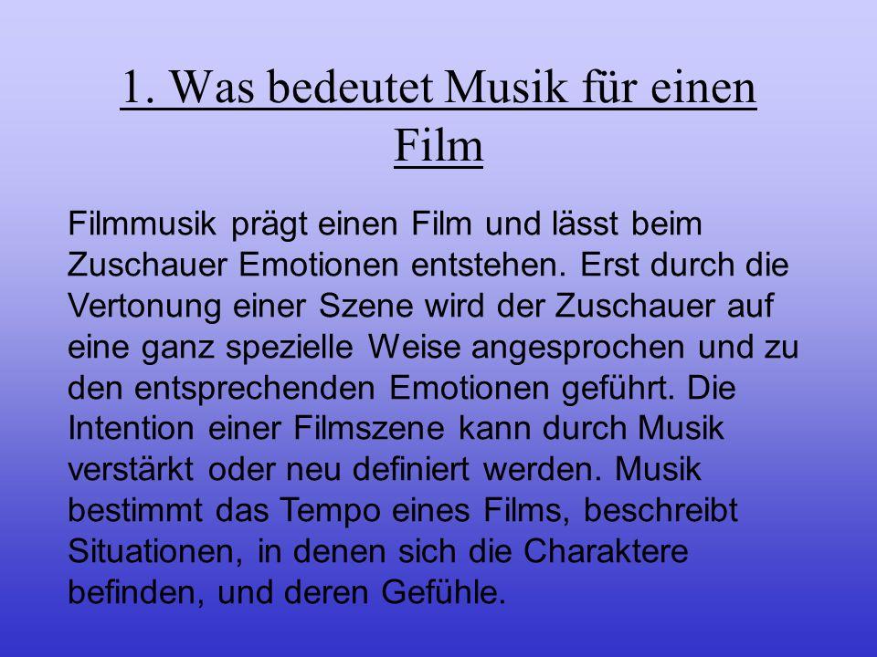 Inhalt 1. Was bedeutet Musik für einen Film? 2. Welche Rolle spielt die Musik in Lola rennt? 3. Beispiele der Musikunterlegung im Film 4. Fazit