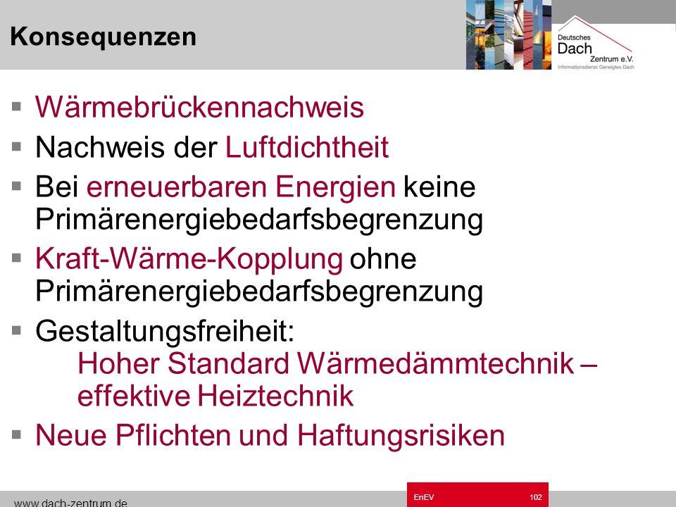 www.dach-zentrum.de EnEV101 Übergangsvorschriften