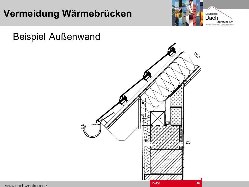 www.dach-zentrum.de EnEV27 Vermeidung Wärmebrücken Beispiel Ortgang