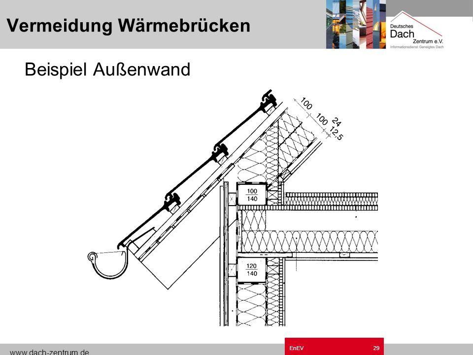 www.dach-zentrum.de EnEV28 Vermeidung Wärmebrücken Beispiel Außenwand