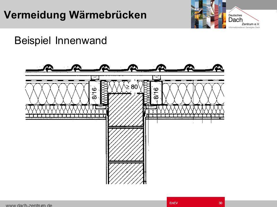 www.dach-zentrum.de EnEV29 Vermeidung Wärmebrücken Beispiel Außenwand