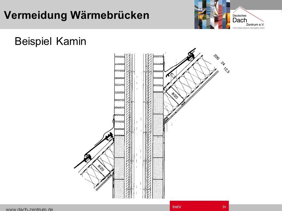 www.dach-zentrum.de EnEV30 Vermeidung Wärmebrücken Beispiel Innenwand