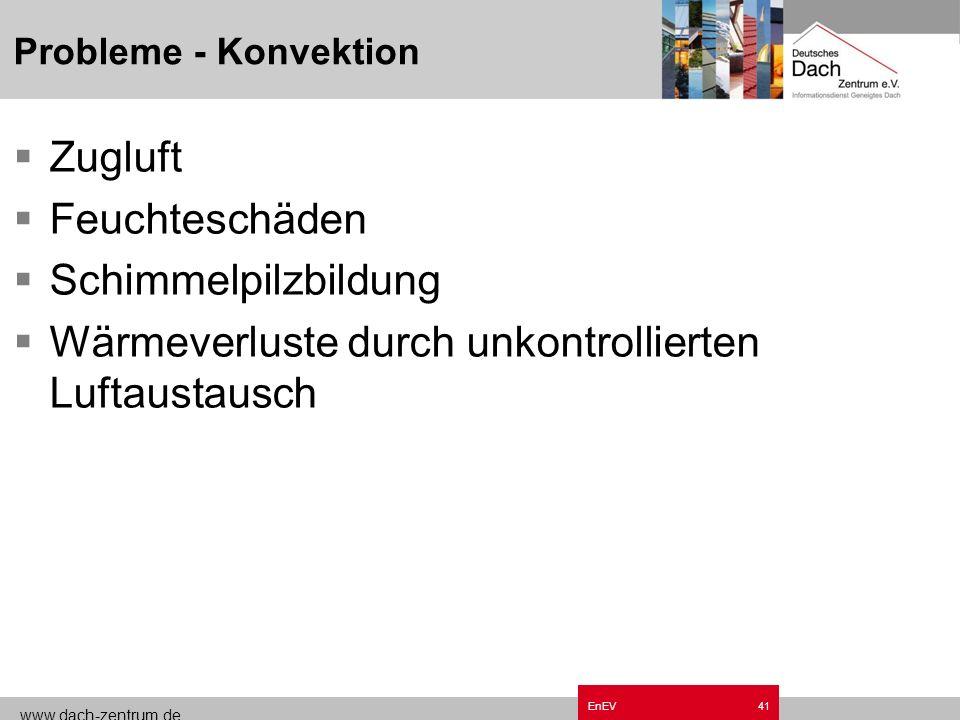 www.dach-zentrum.de EnEV40 Probleme - Konvektion