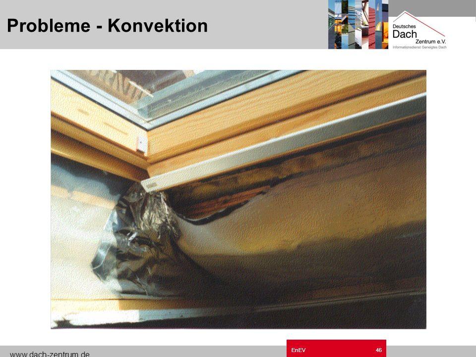 www.dach-zentrum.de EnEV45 Probleme - Konvektion