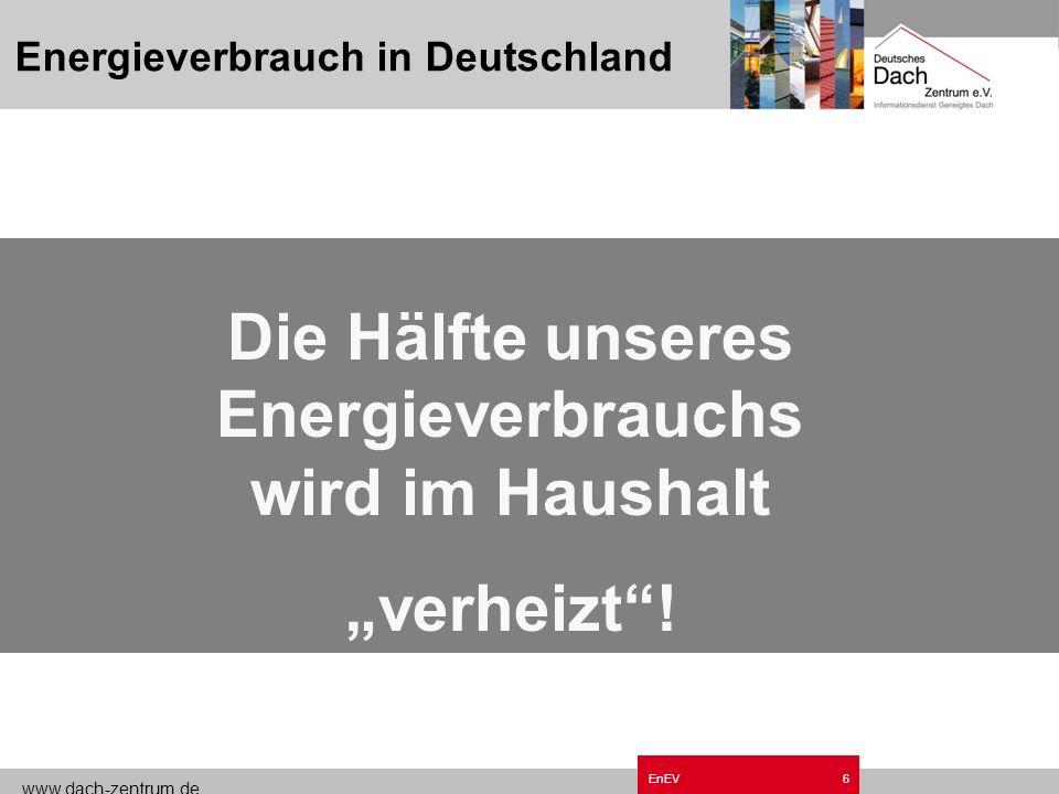 www.dach-zentrum.de EnEV5 Energieverbrauch in Deutschland