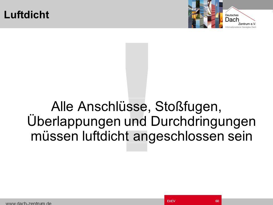www.dach-zentrum.de EnEV59 Installationsebene DIN 4108 T7