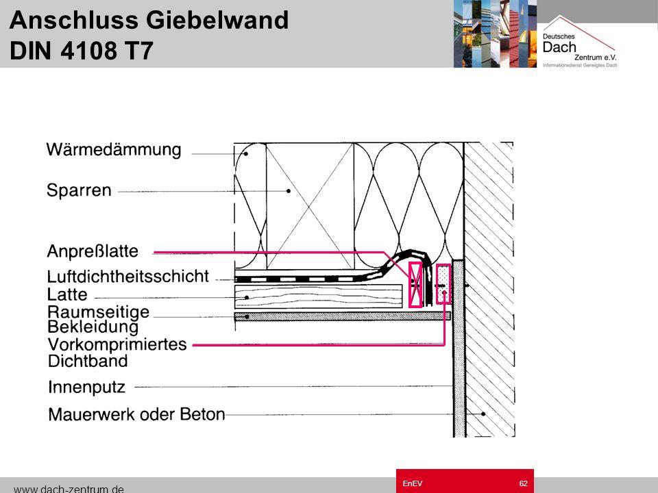 www.dach-zentrum.de EnEV61 Folien-Überlappung DIN 4108 T7