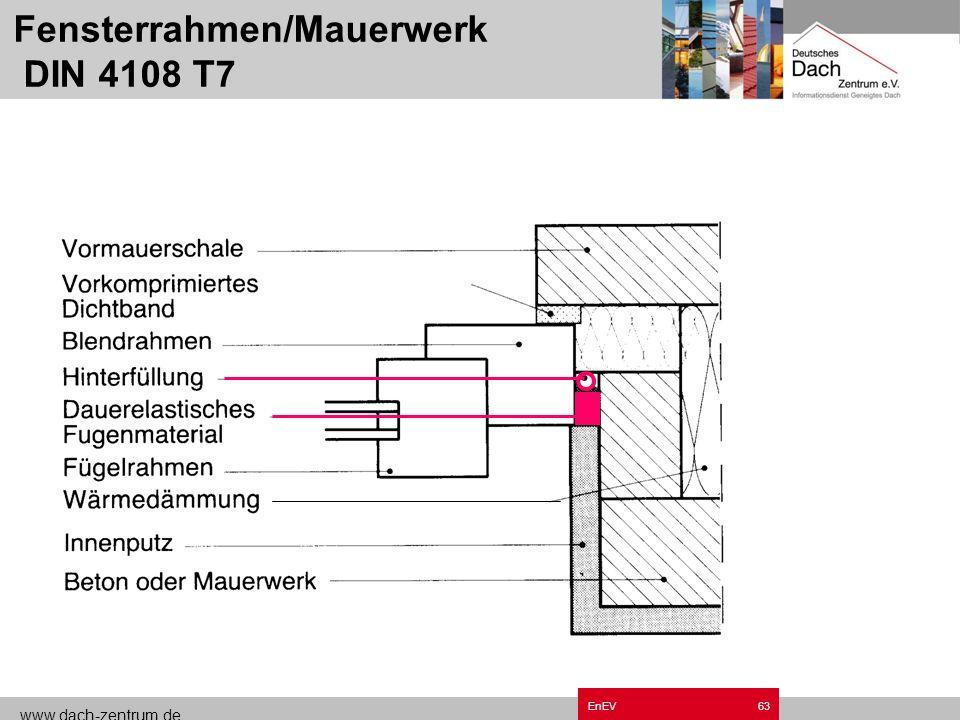 www.dach-zentrum.de EnEV62 Anschluss Giebelwand DIN 4108 T7