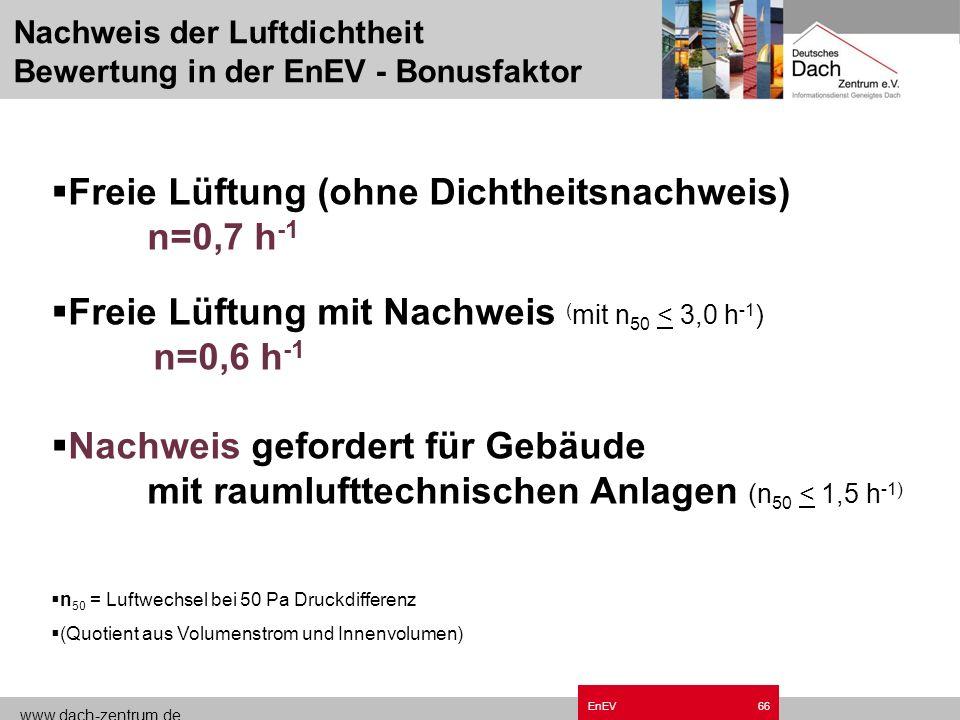 www.dach-zentrum.de EnEV65 Durchdringung Aber nicht so!!!
