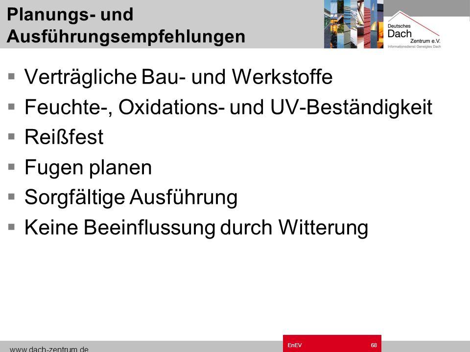 www.dach-zentrum.de EnEV67 Blower-Door Verfahren