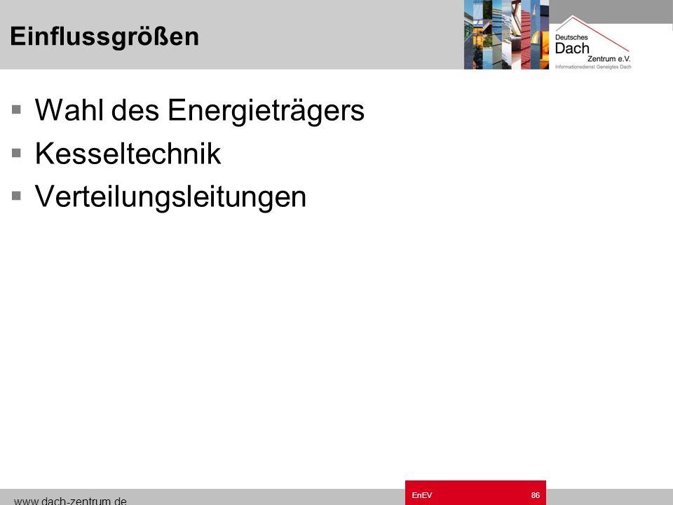 www.dach-zentrum.de EnEV85 Einflussgrößen