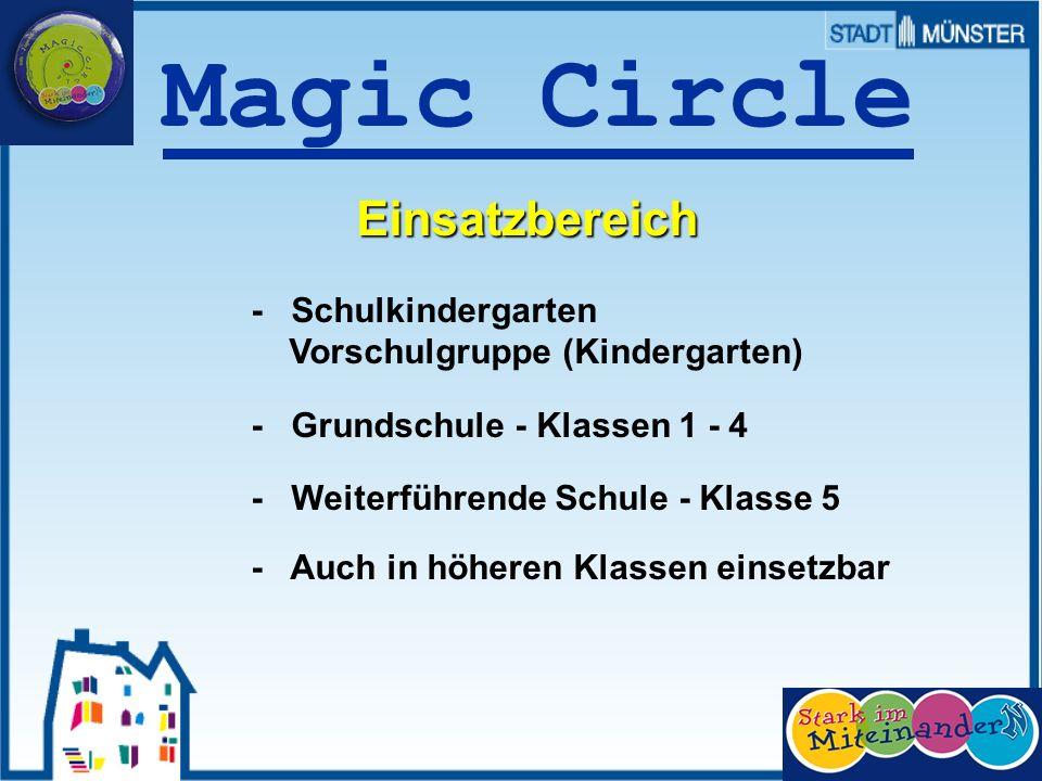 Prof. Dr. Sieland Magic Circle Einsatzbereich - Schulkindergarten Vorschulgruppe (Kindergarten) - Grundschule - Klassen 1 - 4 - Weiterführende Schule
