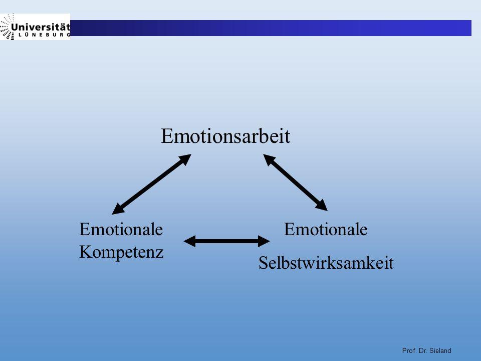 Prof. Dr. Sieland Emotionale Kompetenz Emotionale Selbstwirksamkeit Emotionsarbeit