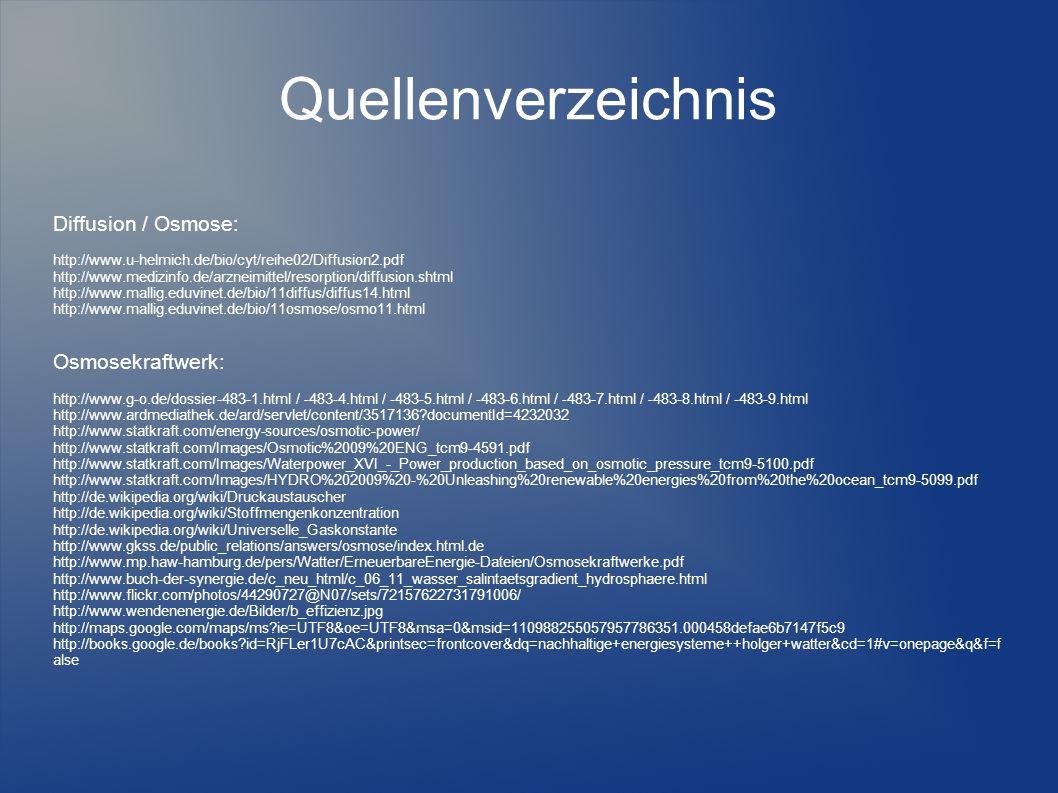 Quellenverzeichnis Diffusion / Osmose: http://www.u-helmich.de/bio/cyt/reihe02/Diffusion2.pdf http://www.medizinfo.de/arzneimittel/resorption/diffusio
