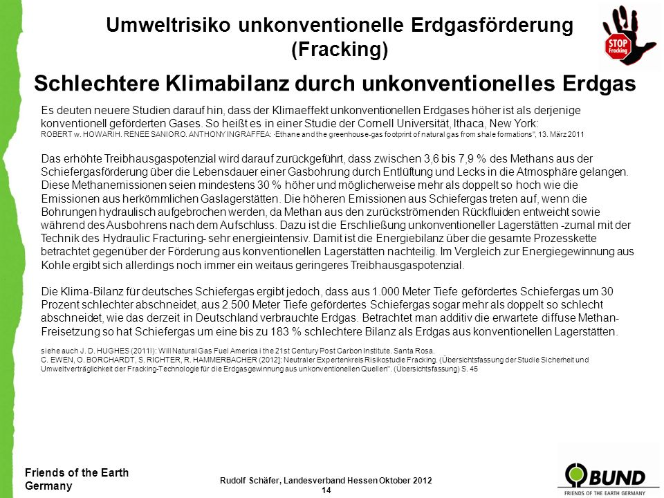 Friends of the Earth Germany Umweltrisiko unkonventionelle Erdgasförderung (Fracking) Green