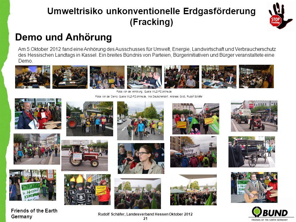Friends of the Earth Germany Umweltrisiko unkonventionelle Erdgasförderung (Fracking) Unsere Forderungen BUND für Fracking-Verbot: Das französische Pa