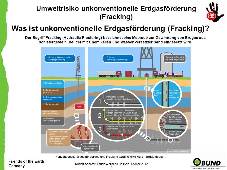 Friends of the Earth Germany Umweltrisiko unkonventionelle Erdgasförderung (Fracking) Unsere Forderungen Wir brauchen Fracking nicht.