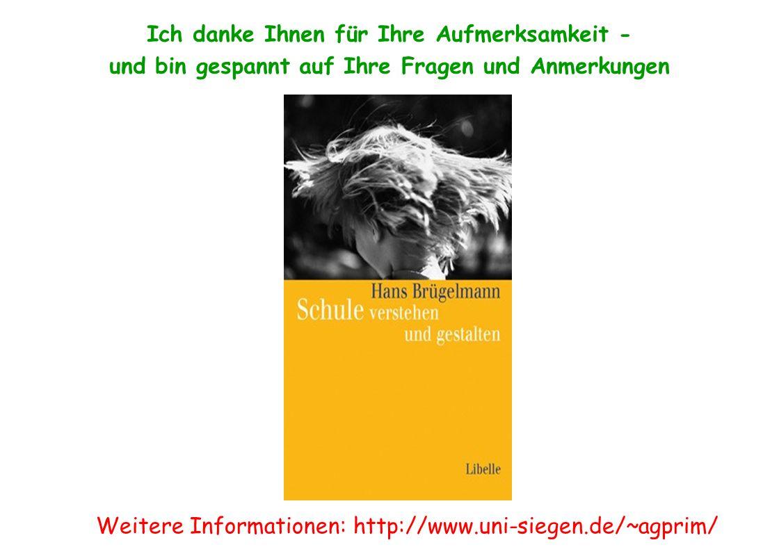 Ende Ich danke Ihnen für Ihre Aufmerksamkeit - und bin gespannt auf Ihre Fragen und Anmerkungen Weitere Informationen: http://www.uni-siegen.de/~agpri