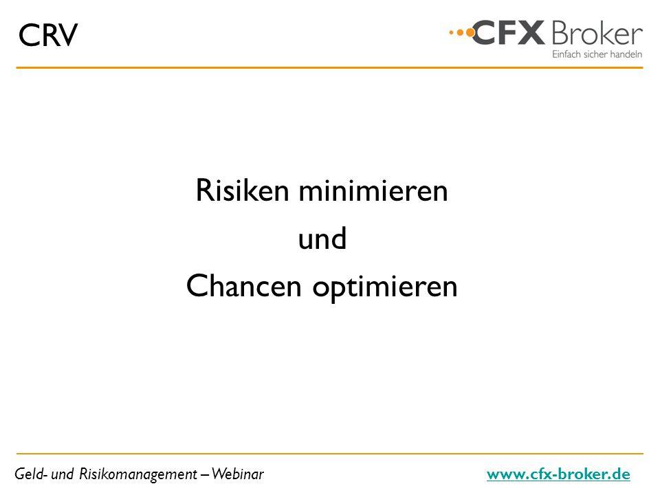 Geld- und Risikomanagement – Webinarwww.cfx-broker.de Lösung I Balance finden, die sich … am Anlagestil des Traders und/oder dessen Trade-Frequenz orientiert.
