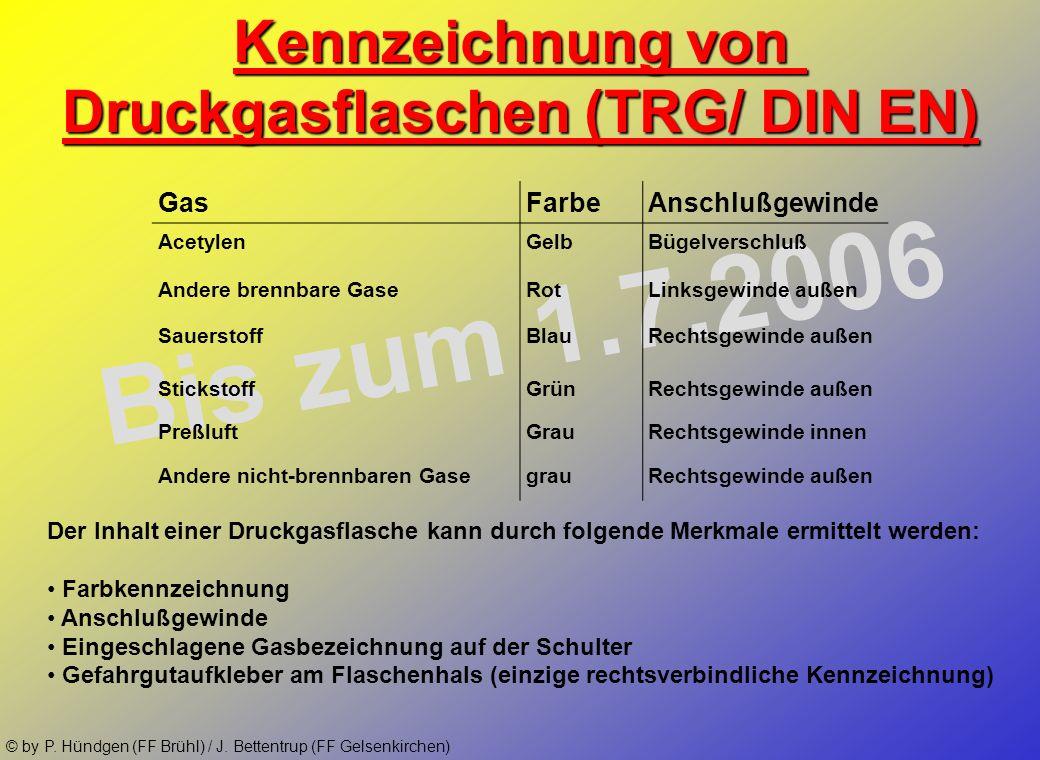 © by P. Hündgen (FF Brühl) / J. Bettentrup (FF Gelsenkirchen) Warnschilder nach UVV der Berufsgenossenschaften