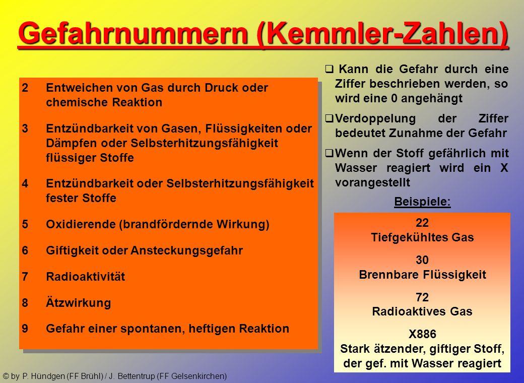 © by P. Hündgen (FF Brühl) / J. Bettentrup (FF Gelsenkirchen)Transportkennzeichnung nach GGVS/ADR Gefahrzettel Versandstücke Tanks Tankfahrzeuge Aufse