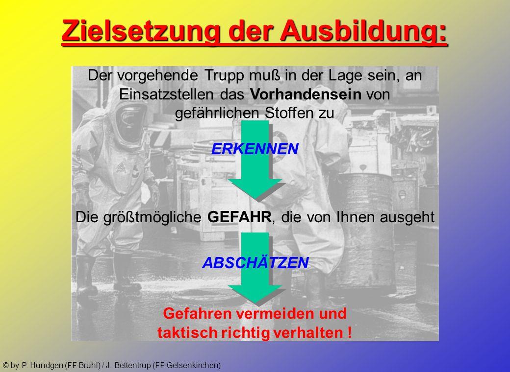 © by P. Hündgen (FF Brühl) / J. Bettentrup (FF Gelsenkirchen) ca. 1,1 Mio Tonnen Gefahrgut werden täglich befördert! Warum GSG in der Feuerwehr ? :